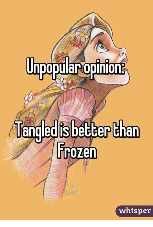 Frozen, Memes, and 🤖: Unpopular opinion  Tangedis bebberthan  Frozen  whisper