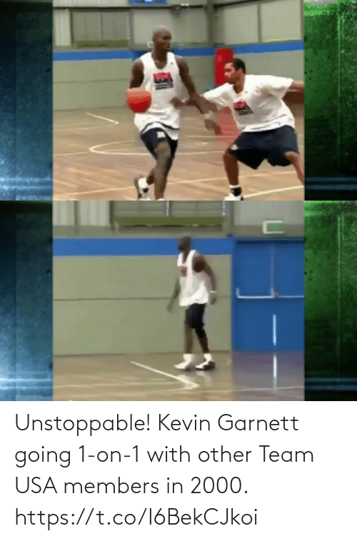 kevin: Unstoppable! Kevin Garnett going 1-on-1 with other Team USA members in 2000.  https://t.co/I6BekCJkoi