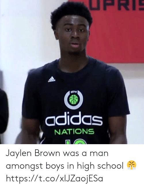 Adidas, Memes, and School: UPRI  014  adidas  NATIONS Jaylen Brown was a man amongst boys in high school 😤 https://t.co/xIJZaojESa