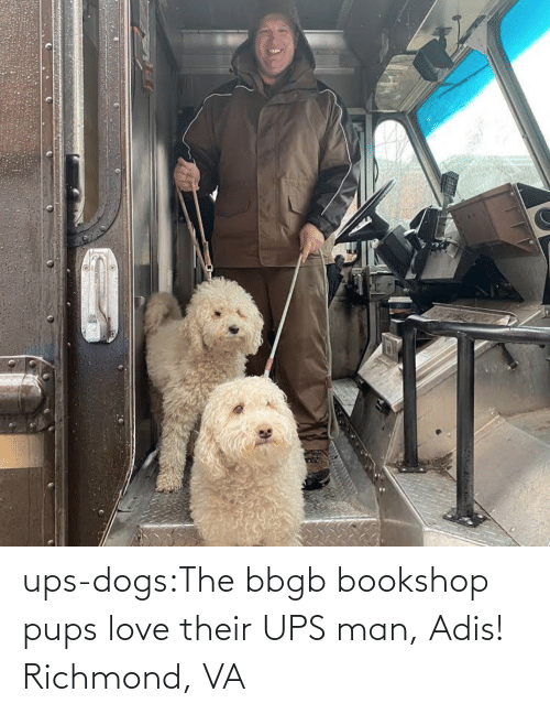 UPS: ups-dogs:The bbgb bookshop pups love their UPS man, Adis! Richmond, VA