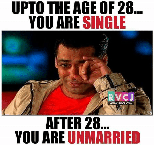 UPTO THE AGE OF 28 YOU ARE SINGLE RVC J WWWRVCJCOM AFTER 28 YOU ARE