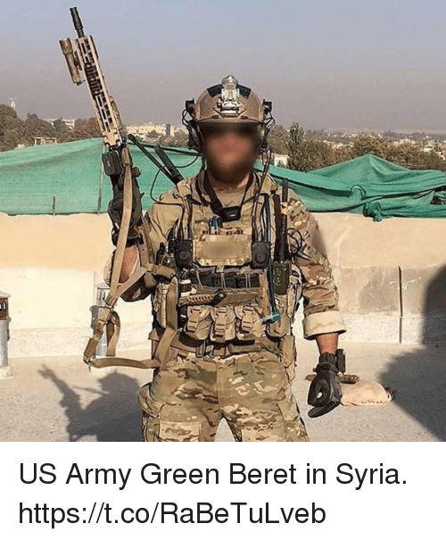 green berets: US Army Green Beret in Syria. https://t.co/RaBeTuLveb