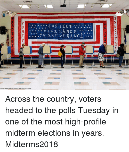 richmond: US TIC  Daniel Sangjib Min/Richmond Times-Dispatch via AP Across the country, voters headed to the polls Tuesday in one of the most high-profile midterm elections in years. Midterms2018