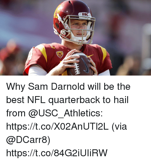 usc athletics: USC  FIGH ON  12 Why Sam Darnold will be the best NFL quarterback to hail from @USC_Athletics: https://t.co/X02AnUTl2L (via @DCarr8) https://t.co/84G2iUIiRW