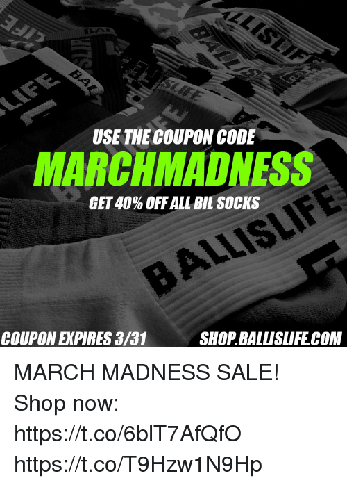 Use The Coupon Code Marchmadness Get 40 Off All Bil Socks Coupon