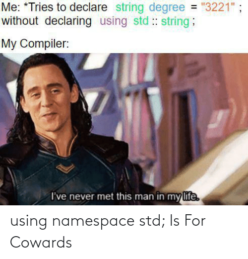 namespace: using namespace std; Is For Cowards