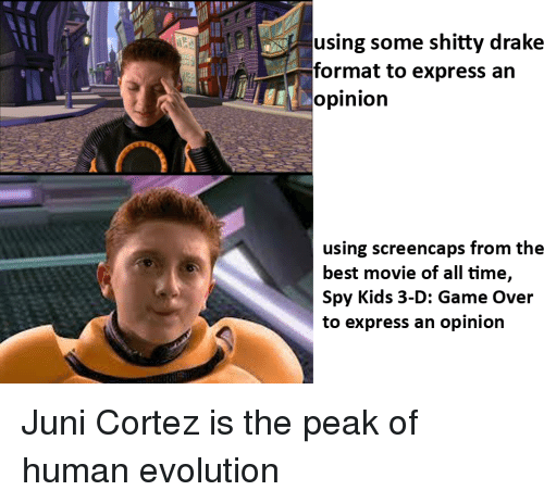 Using Some Shitty Drake Format To Express An Opinion Using