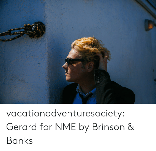 Banks: vacationadventuresociety:  Gerard for NME byBrinson & Banks