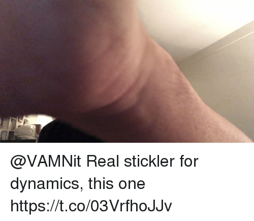 Memes, 🤖, and One: @VAMNit Real stickler for dynamics, this one https://t.co/03VrfhoJJv