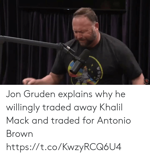 Sports, Antonio Brown, and Jon Gruden: VASA Jon Gruden explains why he willingly traded away Khalil Mack and traded for Antonio Brown https://t.co/KwzyRCQ6U4