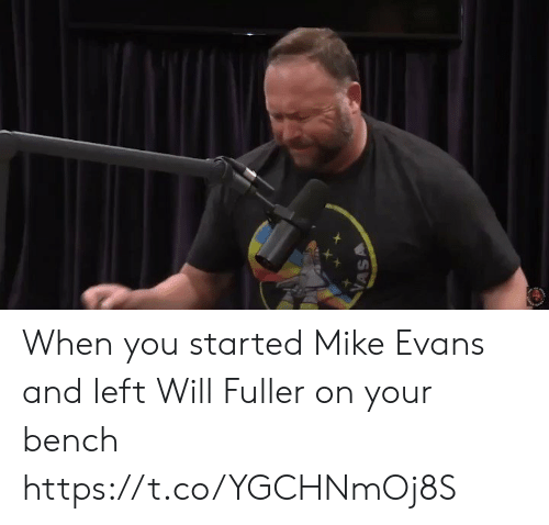 Sports, Mike Evans, and Will: VASA When you started Mike Evans and left Will Fuller on your bench https://t.co/YGCHNmOj8S