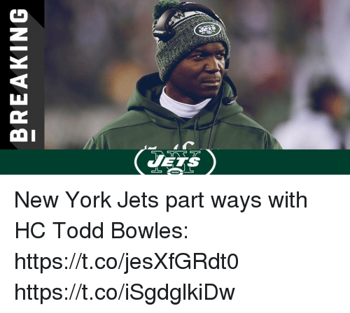 New York Jets: VETS New York Jets part ways with HC Todd Bowles: https://t.co/jesXfGRdt0 https://t.co/iSgdglkiDw