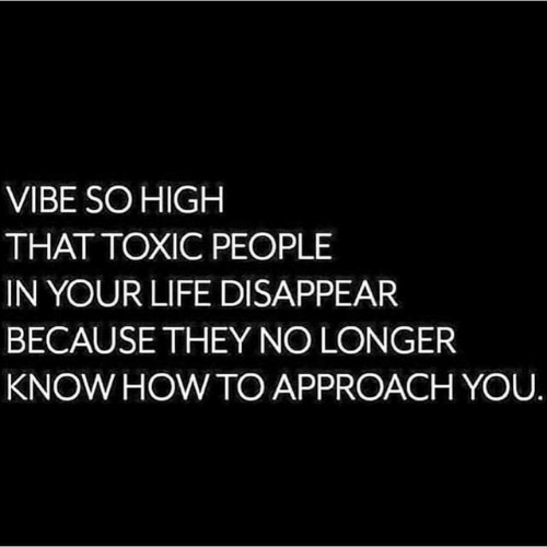 Life, How To, and How: VIBE SO HIGH  THAT TOXIC PEOPLE  IN YOUR LIFE DISAPPEAR  BECAUSE THEY NO LONGER  KNOW HOW TO APPROACH YOU.