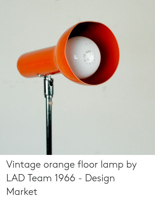 Orange Lad: Vintage orange floor lamp by LAD Team 1966 - Design Market