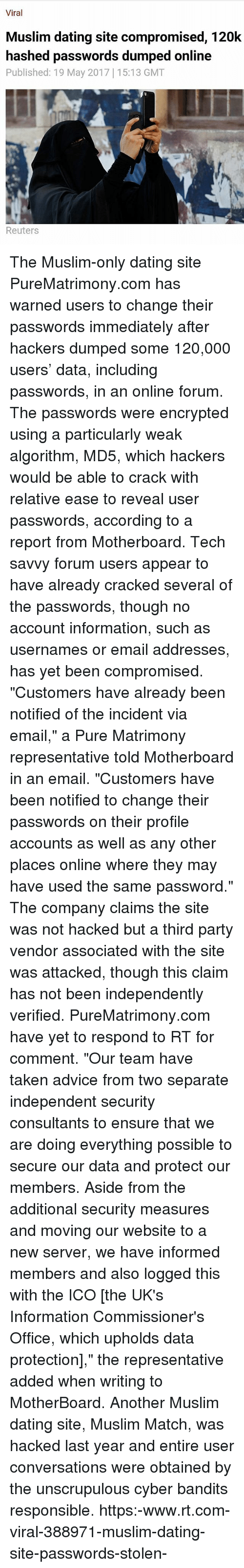 dating site compromised