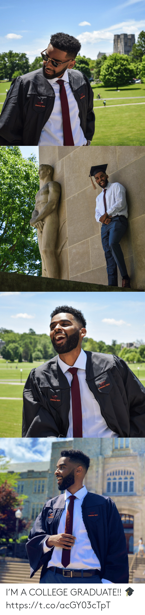 College, Funny, and Virgin: VIRGIN,A TECH   YIRGINIA TECH  MRGINA TECH   VIRGINIA TECH I'M A COLLEGE GRADUATE!! 🎓 https://t.co/acGY03cTpT