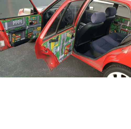 car: vivsiebun:  shitty-car-mods-daily: A friend of mine did this to his car via Shitty_Car_Mods