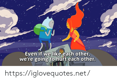 Net, Href, and Like: VJ  Even if we like each other,  we're going to hurt each other. https://iglovequotes.net/