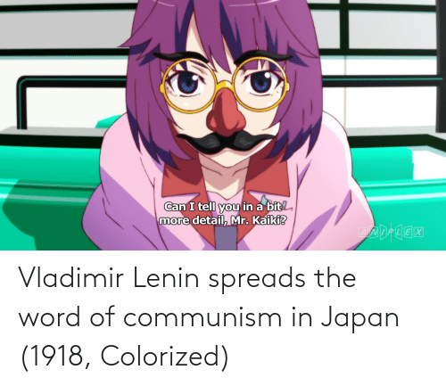 spreads: Vladimir Lenin spreads the word of communism in Japan (1918, Colorized)