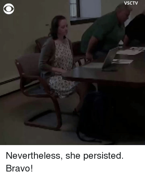 Memes, Bravo, and 🤖: VSCTV Nevertheless, she persisted. Bravo!
