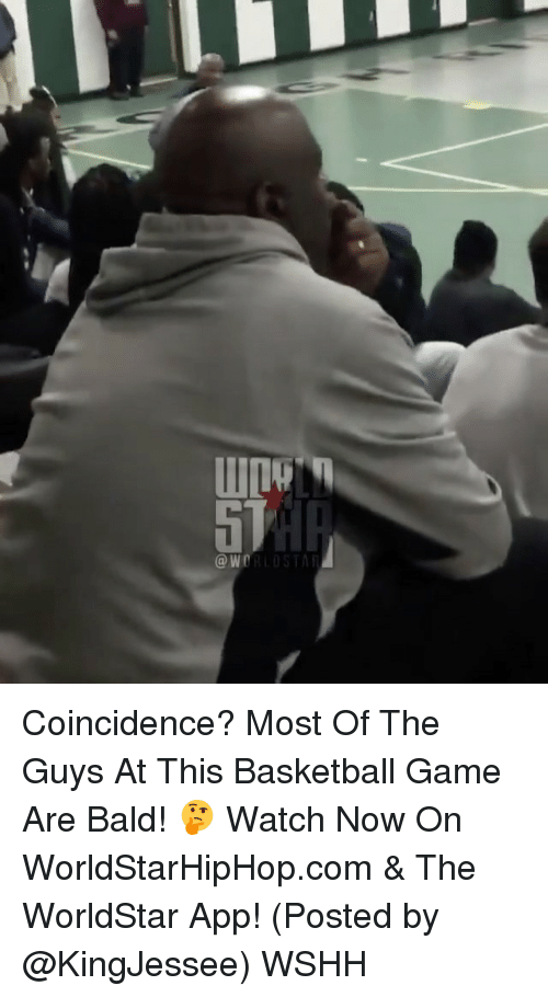 The Worldstar: W  OR LOST Coincidence? Most Of The Guys At This Basketball Game Are Bald! 🤔 Watch Now On WorldStarHipHop.com & The WorldStar App! (Posted by @KingJessee) WSHH