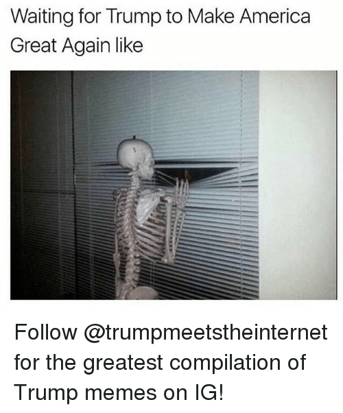 Trump Memes: Waiting for Trump to Make America  Great Again like Follow @trumpmeetstheinternet for the greatest compilation of Trump memes on IG!