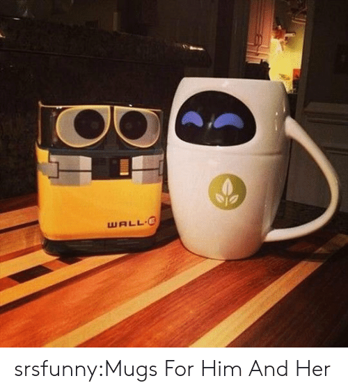 mugs: WALL E srsfunny:Mugs For Him And Her