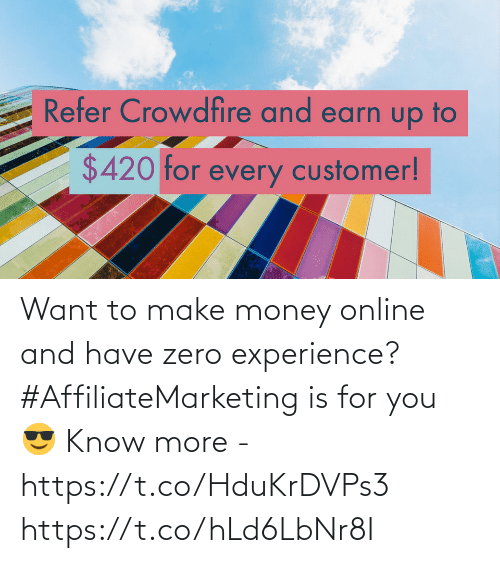 Money: Want to make money online and have zero experience?  #AffiliateMarketing is for you 😎  Know more - https://t.co/HduKrDVPs3 https://t.co/hLd6LbNr8I