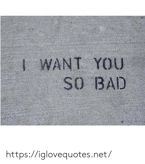 Bad, Net, and You: WANT YOU  SO BAD https://iglovequotes.net/