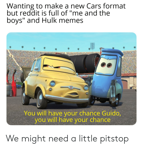 Wanting to Make a New Cars Format but Reddit Is Full of Me
