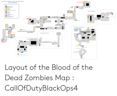 WARDENS HOUSE BLACK OPS 4 ZOMBIES - BLOOD OF THE DEAD LAYOUT