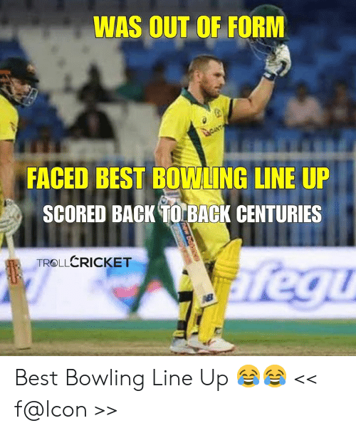 Back to Back: WAS OUT OF FORM  FACED BEST BOWLING LINE UP  SCORED BACK TO BACK CENTURIES  TROLLERICKET Best Bowling Line Up 😂😂  << f@lcon >>