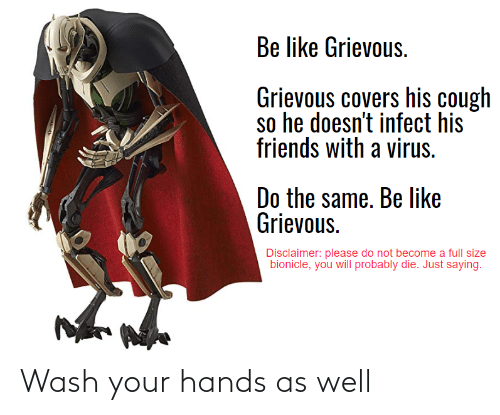 Wash: Wash your hands as well