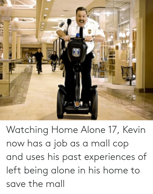 Home Alone: Watching Home Alone 17, Kevin now has a job as a mall cop and uses his past experiences of left being alone in his home to save the mall