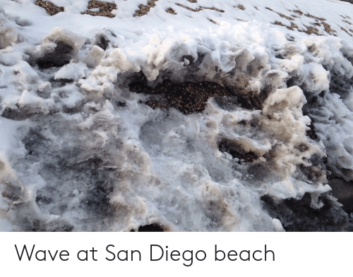 Beach, San Diego, and San: Wave at San Diego beach