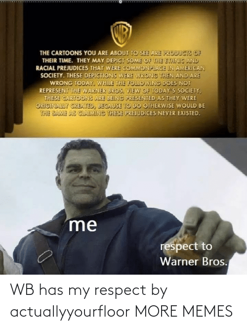 respect: WB has my respect by actuallyyourfloor MORE MEMES