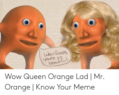 Orange Lad: Wbw Quaen,  youre so  beaut ful Wow Queen Orange Lad | Mr. Orange | Know Your Meme