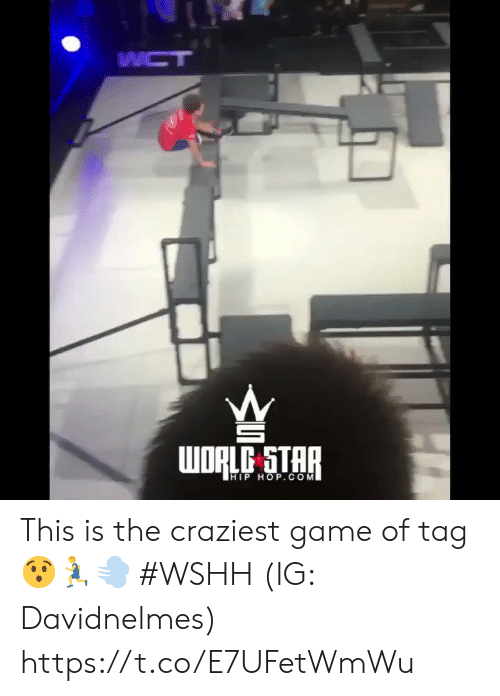 Wshh, Game, and Star: WCT  WORLC STAR  HIP HOP.COM This is the craziest game of tag 😯🏃♂️💨 #WSHH (IG: Davidnelmes) https://t.co/E7UFetWmWu