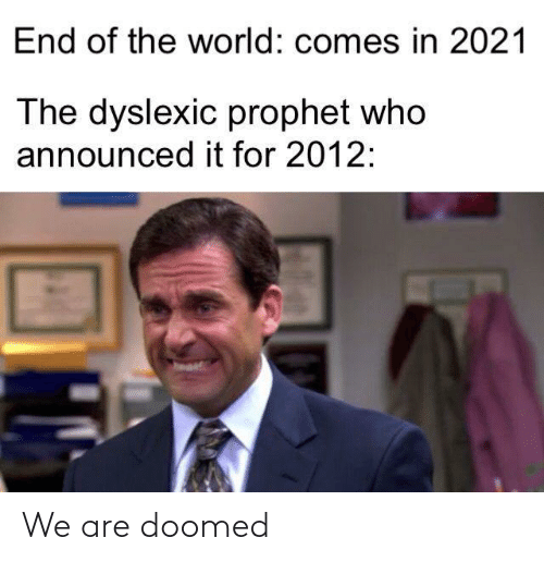 Are: We are doomed