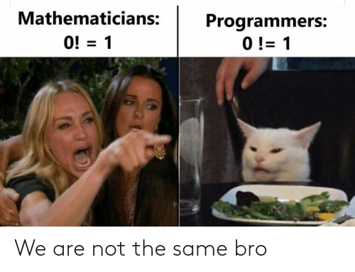 Not The: We are not the same bro