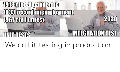 call: We call it testing in production