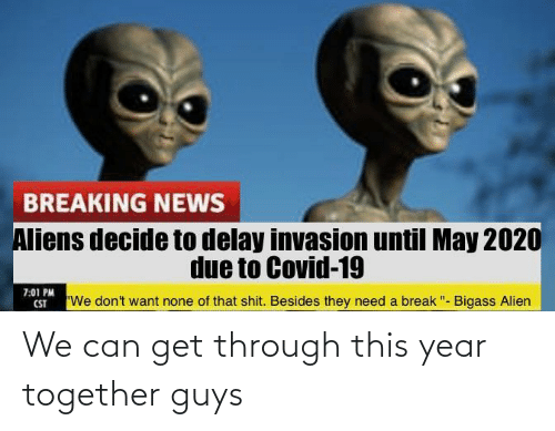 Can Get: We can get through this year together guys