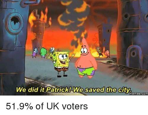 We Did It Patrick We Saved The City