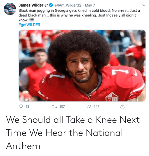 Take A: We Should all Take a Knee Next Time We Hear the National Anthem