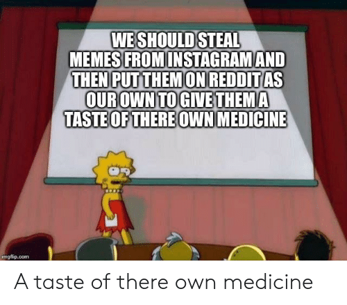 WE SHOULD STEAL MEMES FROMINSTAGRAMAND THEN PUTTHEMON