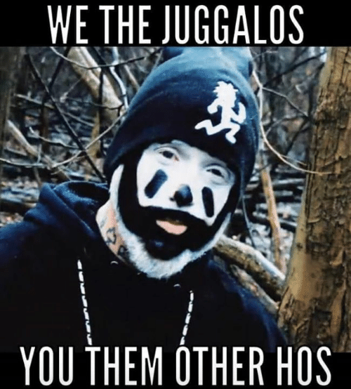 Memes, 🤖, and Them: WE THE JUGGALOS  YOU THEM OTHER HOS
