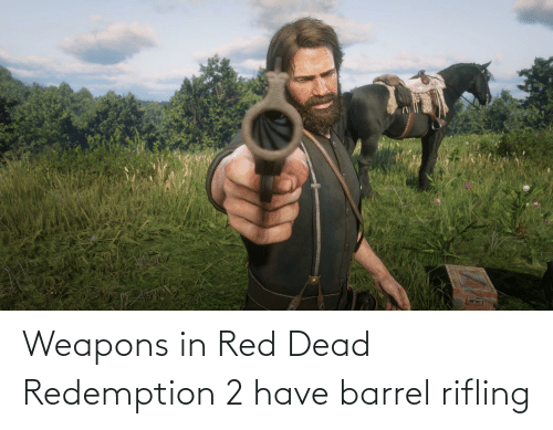 red dead: Weapons in Red Dead Redemption 2 have barrel rifling