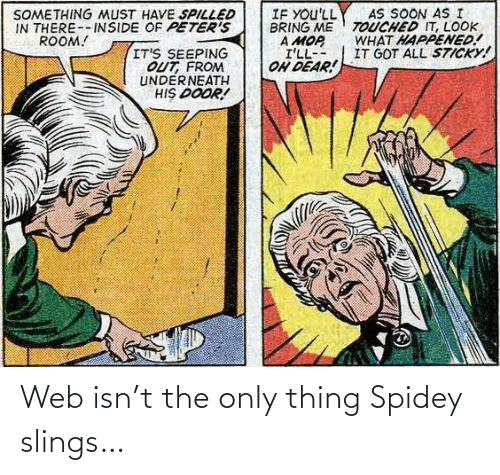 web: Web isn't the only thing Spidey slings…