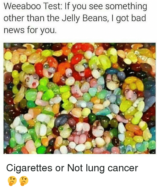 lunging: Weeaboo Test: If you see something  other than the Jelly Beans, I got bad  news for you. Cigarettes or Not lung cancer 🤔🤔