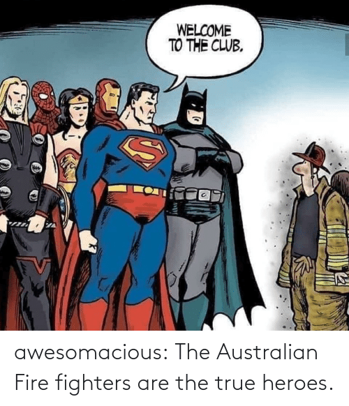Australian: WELCOME  TO THE CLUB. awesomacious:  The Australian Fire fighters are the true heroes.